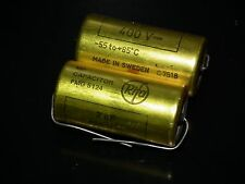 Two NOS vintage MP capacitors 2 uF / 400V Rifa Sweden (PIO - Paper in oil)