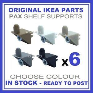 IKEA SHELF SUPPORT PINS PLUGS FIXINGS BRACKETS X 6 for KOMPLEMENT PAX WARDROBE