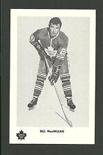 Billy MacMillan Vintage Toronto Maple Leafs 1970s Hockey Postcard NM