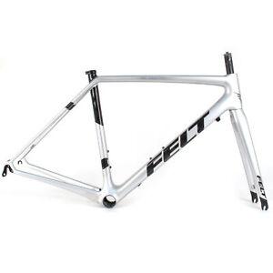 2019 FELT FR1 Rim Brake Carbon Climbers Road Bike Frame //56Cm//Silver Sparkle
