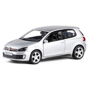 1:36 VW Golf GTI Model Car Alloy Diecast Gift Toy Vehicle Silver Kids Pull Back