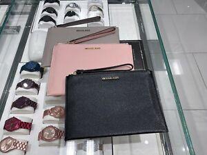 NWT Michael Kors Jet Set Travel XLarge Zip Clutch Leather Wristlet Wallet Multi