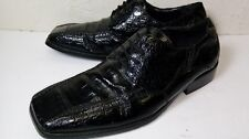 Roberto Chillini Shoes size 9 1/2 Oxford Men's Man Made Black Gator Vintage Mens