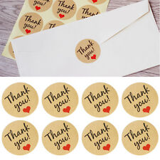 60 Thank You Kraft Seal Sticker Label For Wedding Party Envelope Card Decoration