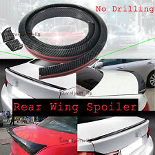 Universal No Drilling Rear Tail Boot Trunk Wing Lip Spoiler Body kit  For Lexus
