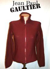 JEAN PAUL GAULTIER  ~ burgundy zip Cardigan  ~ size: S  * AUTHENTIC