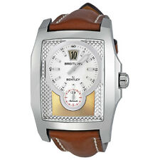 Breitling Bentley Flying B Automatic Jumping Hour Silver Dial Mens Watch
