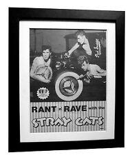 STRAY CATS+Rant N Rave+POSTER+AD+RARE+ORIGINAL 1983+FRAMED+EXPRESS GLOBAL SHIP