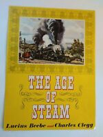 Vintage Book Advertisement The Age Of Steam Beebe Clegg Brochure Promotion Print