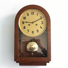 KIENZLE Museum Piece!! Real BAUHAUS Wall TOP! Clock Antique Chime 1930s Germany
