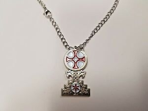 Knights Templar Calvary Cross Pendant With Chain, Masonic Nickel Free Chain