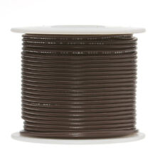 "18 AWG Gauge Solid Hook Up Wire Brown 100 ft 0.0403"" UL1007 300 Volts"