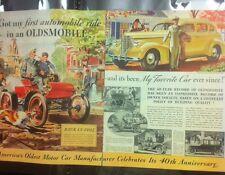 "1938 Oldsmobile ORIGINAL 2 Page 10x13"" AD - Great Garage Decor"