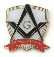 25 Years a Mason Masonic Commemorative Lapel Pin Badge *Exclusive*