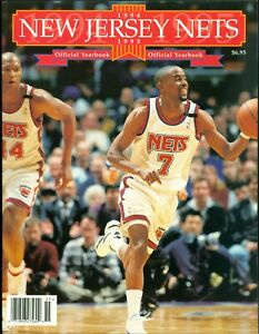1994-95 New Jersey Nets Official Team Yearbook Kenny Anderson