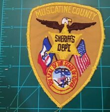 OBSOLETE MUSCATINE COUNTY IOWA SHERIFF PATCH OLD