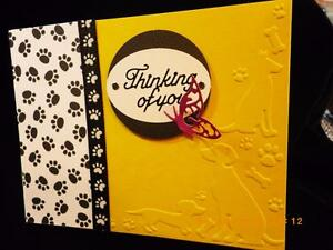 Handmade Beloved Pet Dog Sympathy Card Embossed Thinking of You Using Stampin Up