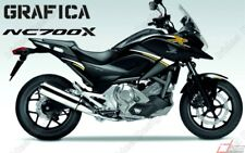 ADESIVI DECAL STICKERS HONDA NC700X NC 700 X RACING CARENA GRAFICA BIANCO ORO