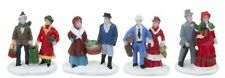 Mini Christmas Village Vintage Characters Couples With Presents