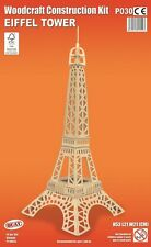 Torre Eiffel Woodcraft Construcción De Madera Modelo Puzzle de Kit-3D Para Niños/Adultos