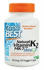 Doctor's Best Natural Vitamin K2 MK7 with MenaQ7, NonGMO, Vegan, Gluten Free,