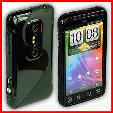 Rückschale für HTC EVO 3D Tasche Case Hülle HTCEVO 3 D HTC3D TPU schwarz