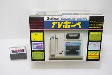 Gakken Compact Vision TV Boy Game Console +Super Cobra Tested Working 1983 Japan