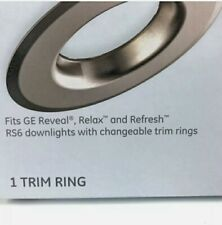"GE Changeable Trim Ring for 5""-6"" Recessed Downlight Brushed Nickel Finish New"