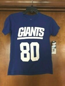 New York Giants Victor Cruz # 80 Blue Jersey T-shirt Youth Size 8 NWT FAST SHIP