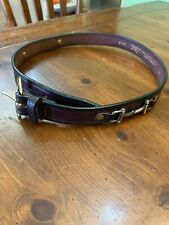 Girl's Leather Belt Buckle Western Brown Size 26 Tory Brand Horse Show