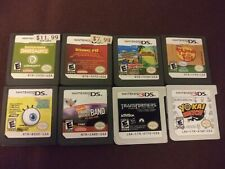 8 Game Lot - 6 For The Nintendo DS And 2 For The 3DS, All Authentic & Tested