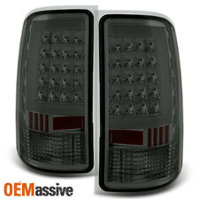 Fit 2007-2013 GMC Sierra 1500 07-14 2500HD 3500HD Smoked LED Tail Lights Lamps