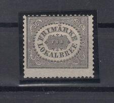 N3861/ SWEDEN – MI # 6 MINT NO GUM CERTIFICATE – CV 825 $