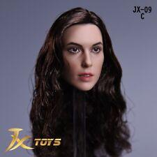 1/6 Wonder Woman Gal Gadot Black Curls Hair Head Sculpt For 12'' Female Figure