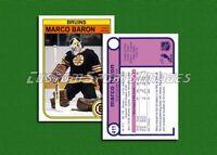 Marco Baron - Boston Bruins - Custom Hockey Card  - 1981-82