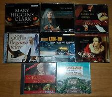 Hörbuch CD Paket 8 Hörbücher 33 CDs historische Romane Krimis Sammlung