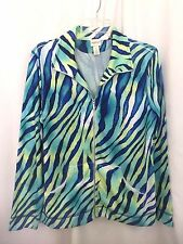 Zenergy by Chico's Zip Front Jacket Top,Size 1, Lg Sleeve, JLOTJULFL#G