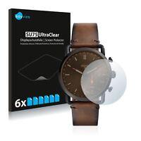 Fossil Q Commuter Smart Watch,  6x Transparent ULTRA Clear Screen Protector