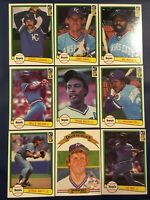 1982 Donruss KANSAS CITY ROYALS Complete Team Set 24 GEORGE BRETT 2 Cards !
