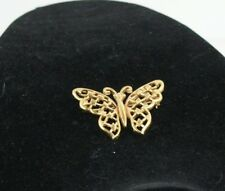 Crown Trifari Vintage Gold Tone Butterfly Brooch Figural Pin