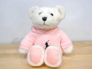 Ralph Lauren Polo Romance Teddy Bear White Pink Hoodie Cute 2020 Big Horse Logo