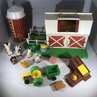 Fisher Price Little People Farm Playset #2555 Vintage 1990 Still Moos!