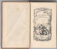 Als der Großvater die Großmutter nahm - Liederbuch 1887 Seideneinband Goldschnit