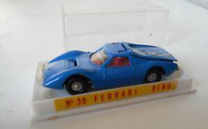 Guisval Vintage Ferrari Dino GT 1:64 Made in Spain 1970 Die Cast Car très RARE
