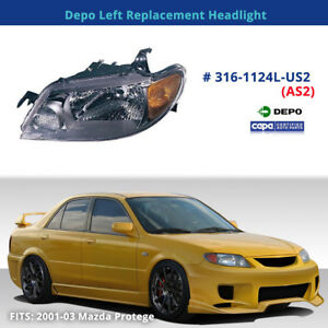 Depo 316-1124L-US2 (AS2) Left Replacement Headlight (Fits:Mazda 323/Protege)