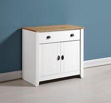 Ludlow small sideboard 2 door 1 drawer storage wood white oak
