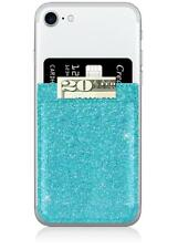 iDecoz Phone Pocket Stick On Phone Case Turquoise Glitter