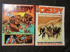 1976 CREEPY Warren Horror Magazine LOT of 2 Issues #82 VF- #83 FVF Frazetta