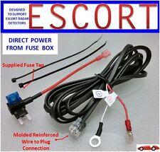 ESCORT, Redline Radar Detector  Direct Power Cord from Fuse Box (DP-ESCT)