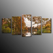 FRAMED Canvas Art For Kitchen Wall Art Print Forest Autumn Oil Painting 5pcs